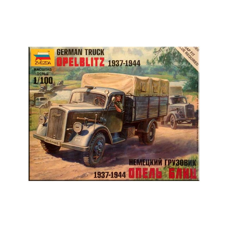 15mm ww2 german opel blitz truck 1937 1944 1 zvezda 1. Black Bedroom Furniture Sets. Home Design Ideas