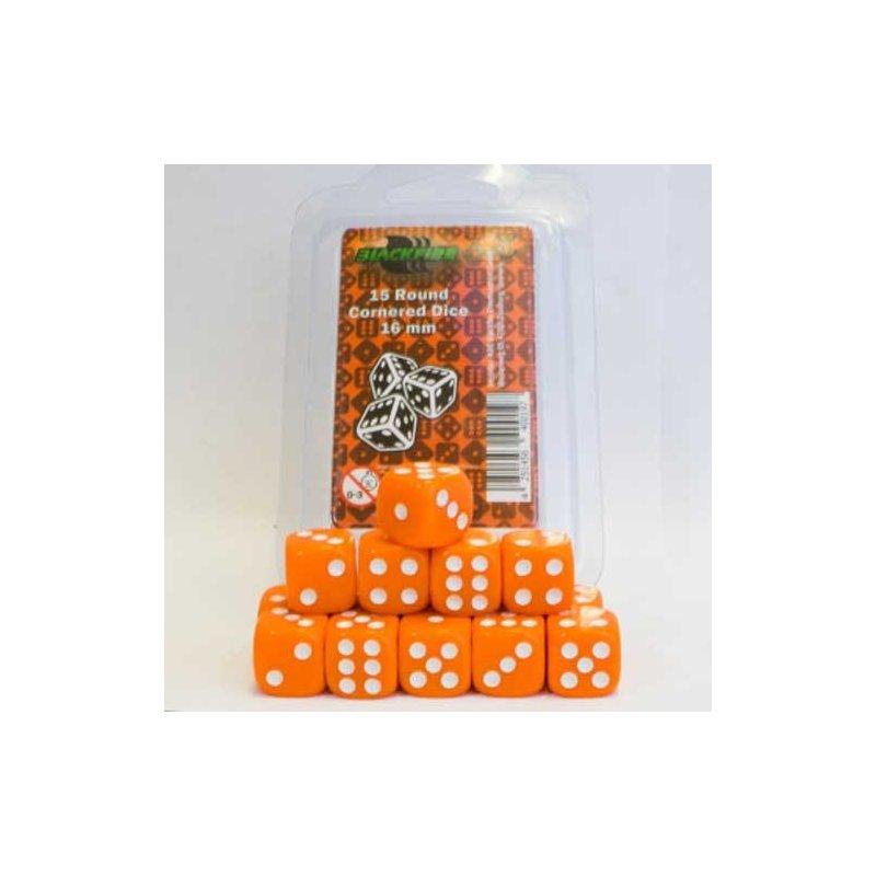 Blackfire Dice 16mm D6 Dice Set Orange 15
