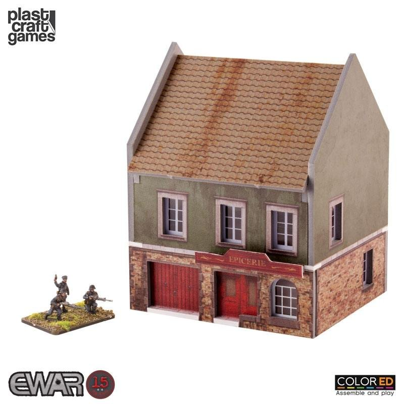 Ewar Wwii Colored Tabletop Bausatz 15mm Grocery Store 12 32