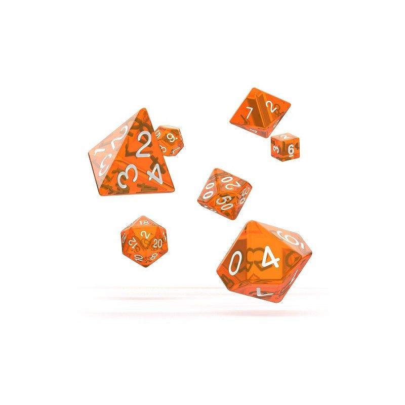 Oakie Doakie Dice Würfel Rpg Set Translucent Orange 7