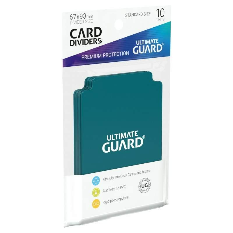 ultimate guard card divider standard size petrol 10 1. Black Bedroom Furniture Sets. Home Design Ideas