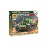 15mm WW2 Russian KV1 tank with F-32 gun 1941 (1) ZVEZDA...