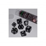 16mm Role Playing Dice Set - Black Fog (7 Dice)