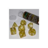 16mm Role Playing Dice Set - Flash Yellow (7 Dice)