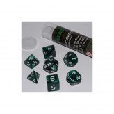 16mm Role Playing Dice Set - Mystic Green (7 Dice)