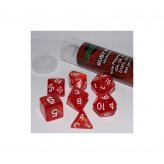 16mm Role Playing Dice Set - Ruby Red (7 Dice)