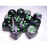 Black-Grey with Green 12xW6 16mm (Gemini)