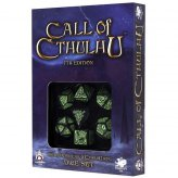 Call of Cthulhu 7th Edition Dice Set Schwarz & Grün (7)