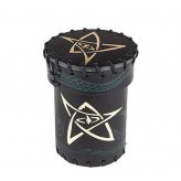 Call of Cthulhu Leather Dice Cup: Black | Green with Gold