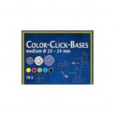 Color-Click Bases Medium (10) 20-24mm Blue
