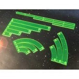 Full acrylic Template set comatible with X-Wing (Green)