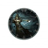 ** % SALE % ** Gunslinger Clock (JR) 34cm
