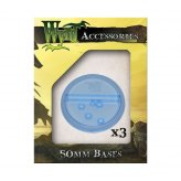 Malifaux: Blue Translucent 50 mm Bases (3 Pack)