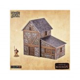 SAGA ColorED Tabletop-Bausatz 28 mm Two-Story Medieval Dwelling