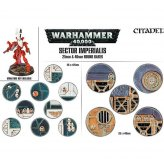 Sector Imperialis 25mm & 40mm Round Bases (40 Stück)...