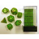 Vortex Slime yellow Polyhedral 7-Die Set