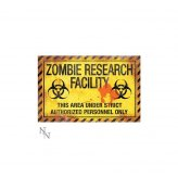 Zombie Research Facility Sign 43cm