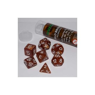 16mm Role Playing Dice Set - Wild Brown (7 Dice)