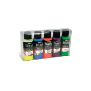 Vallejo Premium: Fluo Colors (Polyu.) (60ml) (5)