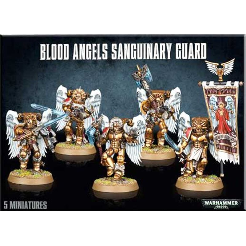 *BITS* 5x Blood Angels Sanguinary Guard Schulterpanzer I