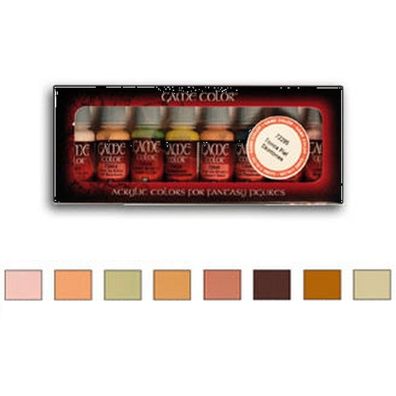 Game Color Set: Skin Colors (Hautfarben) [8 Stk.]